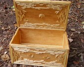 Balsar wood, toothpick and matchstick Trinket box