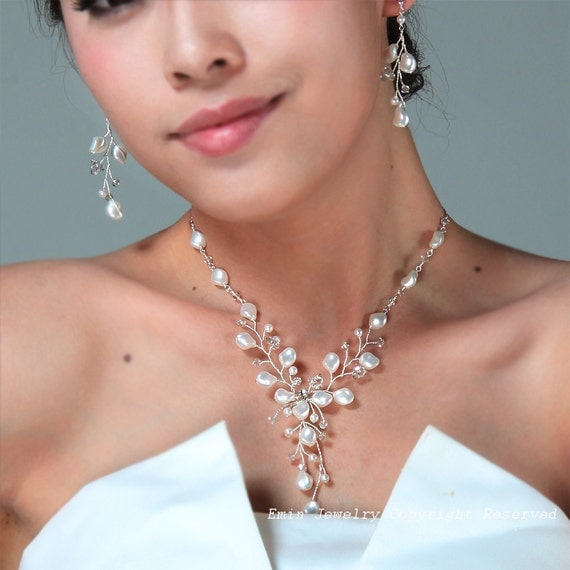 pearl wedding ring sets bridal jewelry sets ivory pearls wedding jewelry set ivory 6426
