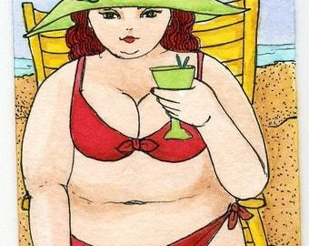 BBW Bathing Beauty Red Bikini a2