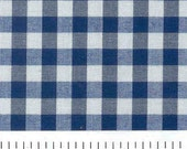 Small Navy Gingham Napkins - set of 12