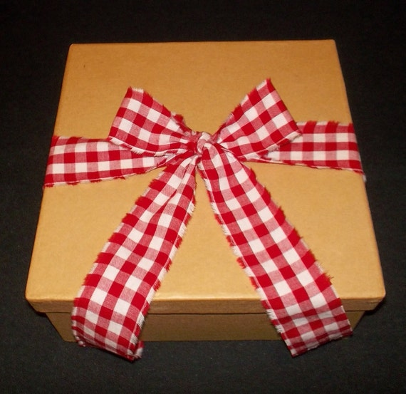 Red Gingham Tattered Ribbon