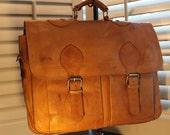 Vintage Saddle Leather Briefcase