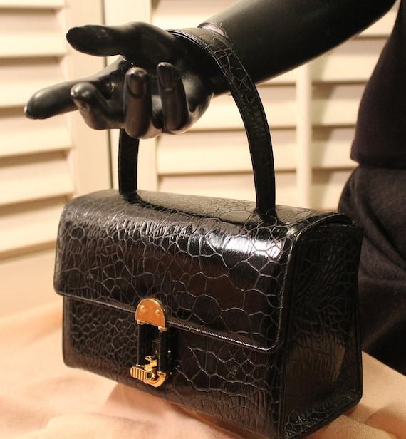 1950s Sheldon Original Reptile Box Bag