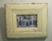 SHABBY ARCHITECTURAL SALVAGED Recycled Wood Photo Picture Frame 4 X 6 Vintage s 520-12