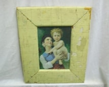 SHABBY Architectural Salvaged Recycled Wood PHOTO Picture Frame VINTAGE S1570