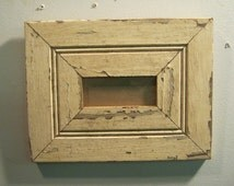 SHABBY Architectural Salvaged Recycled Wood PHOTO Picture Frame Panoramic S 502-12