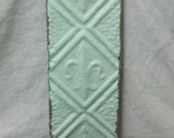 Cream Fleur de lis Tin Ceiling tile Coat Hat Rack New York Salvage 1 one Hook S1237