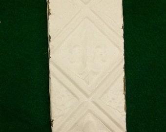 White Fleur de les Tin Ceiling tile Coat Hat Rack New York Salvage 1 one Hook S8114