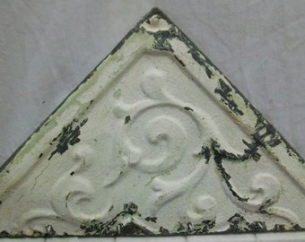 Tin Ceiling Tile Jewelry/Hat Hanger New York Salvage VINTAGE S1579