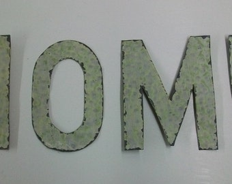 Reclaimed Tin Ceiling 5 inch Letters H O M E  S1590