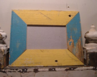 RECLAIMED WOOD Picture Frame 4x6 Shabby Recycled Chic s1999
