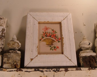 SHABBY ARCHITECTURAL Salvage Wood PHOTO Picture Frame Vintage S3048