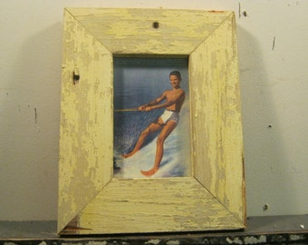 Reclaimed Wood Salvaged Picture Frame 4x6 NY- Salvage S-202