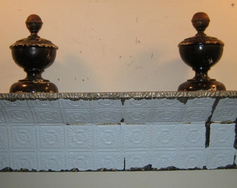 3 FT.- Shabby Salvaged Tin SHELF/Mantle Wall Mount Chic Recycled S-270
