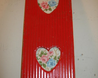 AUTHENTIC Tin Ceiling Double Picture Frame Valentines RECLAIMED Photo S 125-12