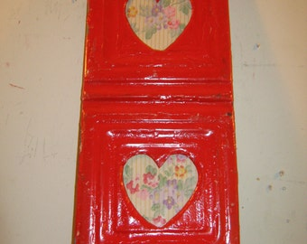 AUTHENTIC Tin Ceiling Double Picture Frame Valentines RECLAIMED Photo S 126-12