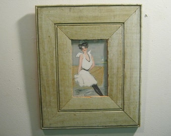 SHABBY ARCHITECTURAL Chic Salvaged Recycled Wood Photo Picture Frame 5x7 S 514-12