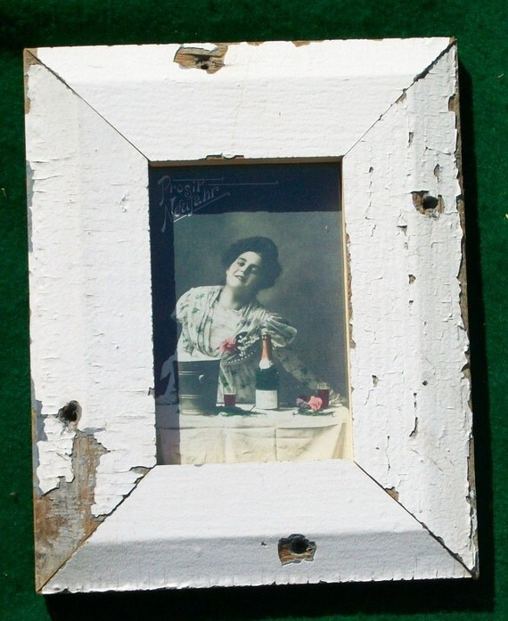 SHABBY ARCHITECTURAL Chic SALVAGED Reclaimed Wood PHOTO Picture Frame VINTAGE S18552