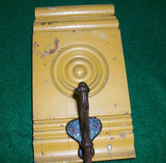 Light Brown Single Hook Coat Hat Rack New York Salvage 1 one Hook S25489