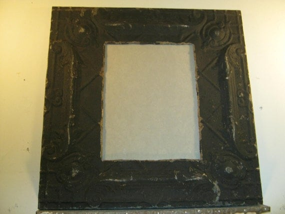 TIN CEILING Picture Frame 11x14 Shabby Recycled chic S-397
