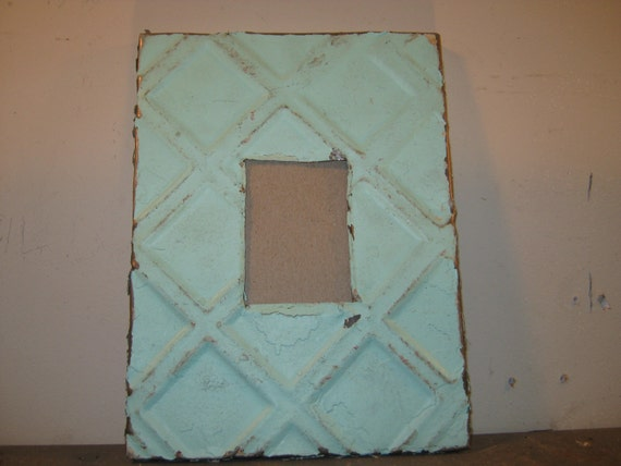 AUTHENTIC RECYCLED Tin Ceiling Picture Frame Reclaimed Chic Small S 19-12