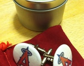 Los Angeles Angels One Inch Button Cuff Links