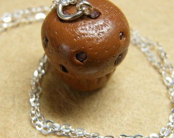 Chocolate Chip Muffin Charm - Available on Necklace or Clasp