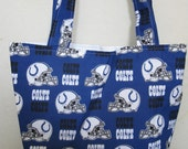 Cute Handmade Colts Tote Bag Purse NFL fabric