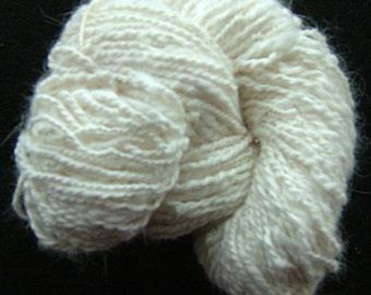 Handspun White English Angora Yarn