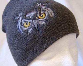 Owl Eyes Beanie Skullcap Hat