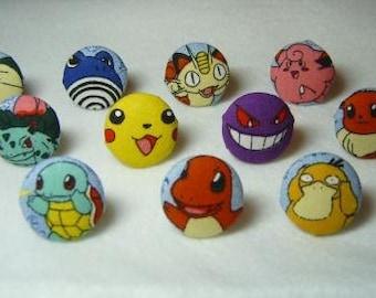 COMPLETE SET of ELEVEN Original Pokemon Rings