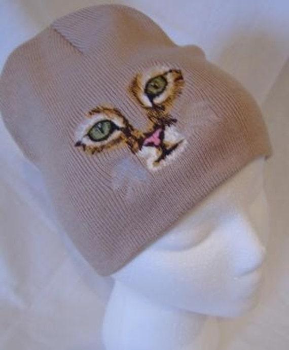 Cat Face Beanie Skullcap Hat