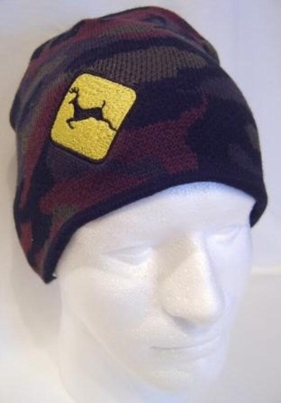 Camouflage Deer Crossing Sign Beanie/Skullcap Hat