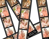 Vintage Film Strip Save the Date Card - Photo Booth Photo Strip