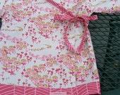 little girl kimono top - LivvySue Kimono Top in Flower Fields Sz  0-6 mths, 6-12 mths, 12-18 mths, 18-24 mths