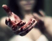 blood on her hands - 12x8 - Signed Original Fine Art Photograph