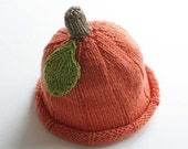 Pumpkin hat, luxury version, newborn - 1 month, ready to ship