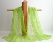 Scarf or shawl, hand-knit lace elegance, heavenly soft luxury Angora kid mohair and silk. choose your color