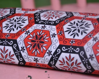 Atomic Hexagons - Vintage Fabric 36 inches wide 50s Whimsical Folk Art Cottage New Old Stock