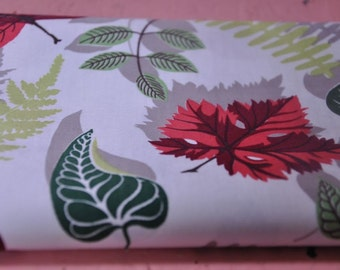 """Stunning Modern Eames Leaves - Vintage Fabric 50s 60s 37"""" wide New Old Stock"""