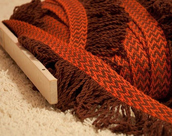 Amazing Brown Orange Mod Fringe - 3 yards Vintage Trim New Old Stock 60s 70s