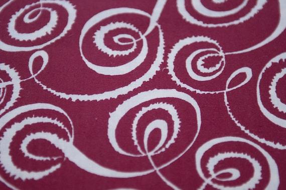 Stunning Mod Geometric - Vintage Fabric Swirls Twirls 35 in wide 50s