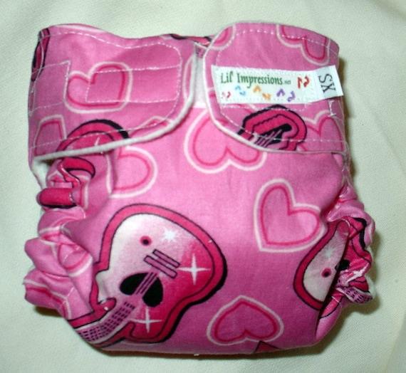 Lil' Impressions AI2 Pocket cloth diaper, Rockin Pink Guitars, You pick size