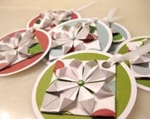 Reserved for Sara - Gift Tags - Holiday Circles (set of 6)