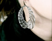 Rhamiel Earrings - Angel of Empathy Filigree Wings - 2 Finishes - Free Domestic Shipping