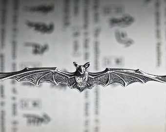 The Bat Necklace  - Made in USA Stamping - Auspicious Feng Shui Symbol - 2 Different FInishes - Insurance Included