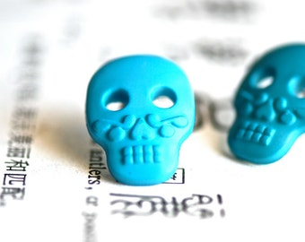 Mictecacihuatl Sugar Skull Earrings - Made In USA Surgical Steels
