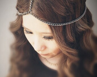 CHAINS HeadPiece - Gunmetal - Domestic Free Shipping