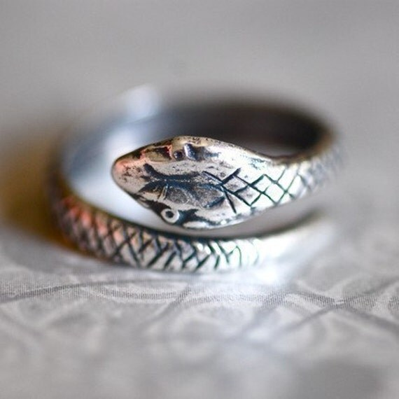 Serpent Ring - Made in USA Sterling Silver plated brass