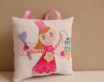 MADE TO ORDER Tooth fairy cushion princess